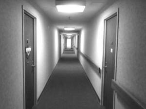 hallway-b-w